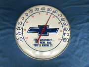 Original Rare 1980and039s Chevorlet Wall Advertising Thermometer