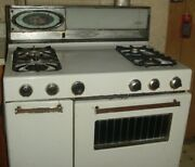 Vintage 1960 Atomic Age Roper Gas Stove With Heater For Restoration 35 1954004