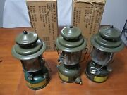 Vintage Coleman Military Issue Lantern Lot Of 3. 1944 And03958 And03969
