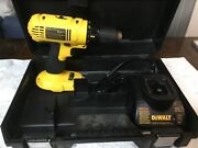 Dewalt Dc970 18-volt 1/2 Cordless Drill Driver, Charger And Case No Battery