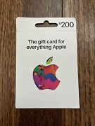 Apple 200.00 App Store And Itunes Gift Card Physical Card / No Email / Usps Only