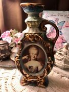 Marie Antoinette, Upcycled Vintage Jim Beam 1975 Decanter  Blue And Gold