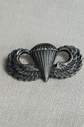 Wwii Us Australian Made Sterling Paratrooper Pin-back Jump Wings Angus And Coote