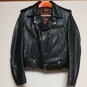 The Real Mccoys + Harley Davidson 50's Cycle Champ 38 Leather Jacket Black