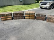 Lot Of 5 Vintage 1800's Antique Steamer Trunks Dome Top, Flat Top, Wood And Metal