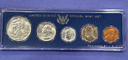 1947-p Unc. To Gem Bu U.s. Mint Coins In A Genuine Mint Set Government Case Nice