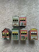 West Bro's Ho Scale Pressed Tin Buildings Set 1930's-40's