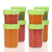 Glass Baby Food Storage Containers Set Contains 4 Small Reusable