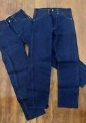 2 Pairs Nos Montgomery Ward 1950s 60s Cheyenne Kid Jeans 16 Youth 28x28 Vintage