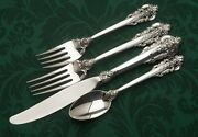 Grande Baroque By Wallace Sterling Silver Set Of 8 Place Settings