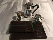 Christofle Albi Silver Plated Coffee Set 3 Pieces [new And Unique]