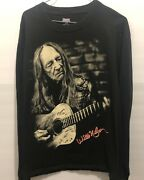 Willie Nelson Martin Guitars Long Sleeve Hanes Beefy Tag Pre Owned Shirt