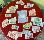 Belarus 24 Various Banknotes And Sheet Ration Coupons, 50 Rouble Emergency Money