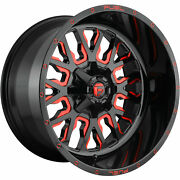 4- 20x10 Black Red Fuel Stroke 5x5.5 And 5x150 -18 Wheels Trail Blade Mt 33 Tires