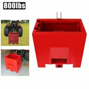 Ballast Box For 3 Point Category 1 Tractor Category 1 Heavy-duty Lift 800lbs Red