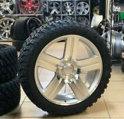 24and039and039 Texas Edition Silver 33and039and039 Mt Tires Fit Silverado Tahoe Ltz Sierra Gmc Yukon