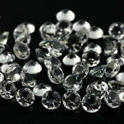 Natural White Topaz 7 Mm Round Faceted Cut Loose Aaa Quality Gemstone 1000 Piece