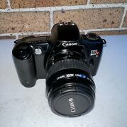 Canon Eos Rebel Xs 35mm Film Camera 35-80mm Af Lens W/ New Batteries Tested