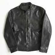 Einstein Model Leviand039s Vintage Clothing Menlo Cossack Leather Jacket Size S A-1
