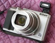 Nikon Silver Coolpix A900 Compact Digital Camera Sd Card And Charger, Case - Mint