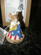 Enesco Tales With Heart Betsy Ross Mouse Figurine 6008092 Nib