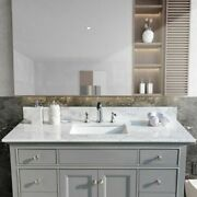 49 Inch Bathroom Stone Vanity Top With Rectangle Undermount Ceramic Sink And Back