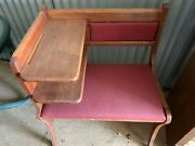 Vintage Gossip Bench Telephone Table Antique Decent Used Condition