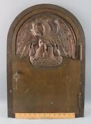Rare Antique Bronze Religious Church Reliquary Tabernacle Door With Lock And Key