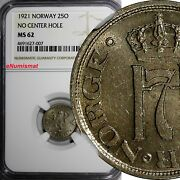 Norway Haakon Vii 1921 25 Ore Ngc Ms62 3 Years Type Top Graded By Ngc Km 381