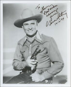 Gene Autry - Inscribed Photograph Signed 10/02/1984