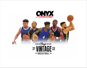 2021-22 Onyx Vintage Collection Basketball 24 Hobby Box Sealed Case