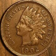 1902 Us Indian Head Small Cent Coin