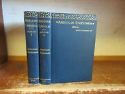 Old Life Of Abraham Lincoln Book Set 1893 Civil War President Map Biography Lot