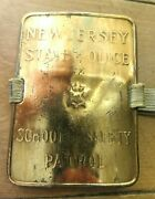 New Jersey State Police School Safety Patrol Metal Armband Whitehead Hoag Co Usa