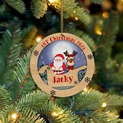 Babyand039s First Christmas 3d Laser Wood Ornament Personalized Christmas Ornaments 2