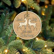 Personalized Deer Couple Christmas Ornaments Christmas Ornament Wooden Ornaments