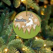 Personalized Deer Name Christmas Ornaments Christmas Ornament Wooden Ornaments F