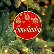Personalized Name Ornaments Red Christmas Ornament Wooden Ornaments For Christma
