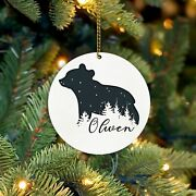 Babyand039s First Christmas Ornament Personalized Christmas Ornaments 2021 Baby Bear