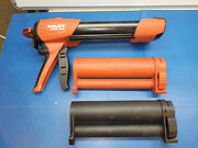 Hilti Hdm500 Manual Adhesive Epoxy Dispenser With Red And Black Cartridge Holder
