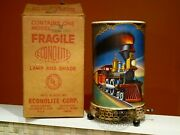 Vintage 1956 Econolite Corp Litho The General And John Bull Train Motion Lamp