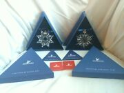 New 2002 And 2003 Large Snowflake Annual Christmas Ornaments Lot