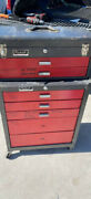 Home Storage 2 Piece Tool Chest Cabinet Brown Home