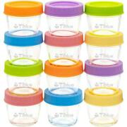 Glass Baby Food Storage Containers Set Of 12, Leakproof 4 Oz