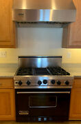 Viking Professional Series 5 Stove/oven With Viking Fan Black/stainless Steel