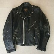 Harley Davidson 50's Vintage Leather Jacket Buco Bell From Japan Used Size S