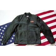 Harley Davidson Riders Jacket New Men's Midweight Leather 100 Cowhide Black