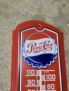 Vintage Pepsi-cola Red Thermometer Soda Advertising 1980andrsquos