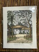 Ted Wade Lithograph 31/37 1980 Old Global Theater 1870s Balboa Park San Diego
