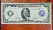 1914 50 Philadelphia Federal Reserve Note Super Choice About Uncirculated